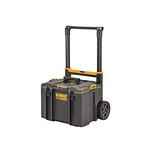 """Dewalt DS450 Werkzeugbox DWST83295-1 (ToughSystem 2.0, mobile Werkzeugbox mit robusten 8\"""" Rädern und Teleskopgriff, IP65 - staubdicht und spritzwassergeschützt, max. Traglast 70kg)"""