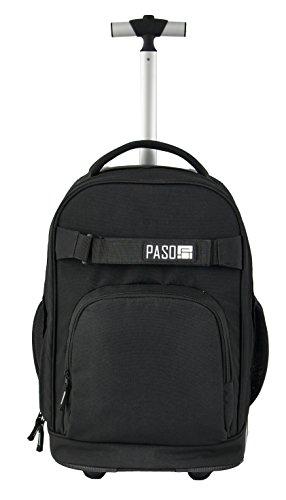 Paso Trolley Rucksack mit Rollen Schulrucksack schwarz 17-1230UZ