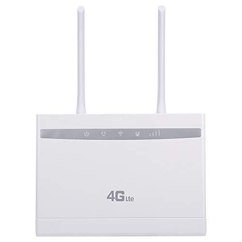 Adaskala Enrutador inalámbrico 4G LTE Enrutador CPE de Alta Potencia de 150 Mbps con Ranura para Tarjeta SIM Señal Fuerte Versión de la UE