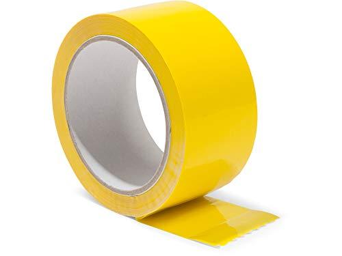 Modulor Verpackungsband, farbiges Klebeband aus Polypropylen, leise abrollendes Paketband mit Acrylatkleber, Breite 5 cm x Länge 66 m, 48 µm dick, gelb
