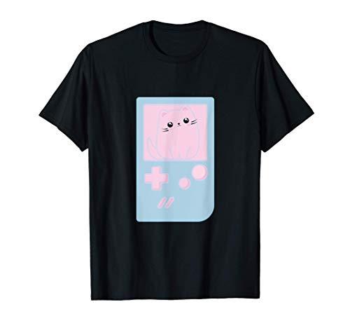 Kawaii Gamer adolescente gatita estética gato lindo Pastel Camiseta