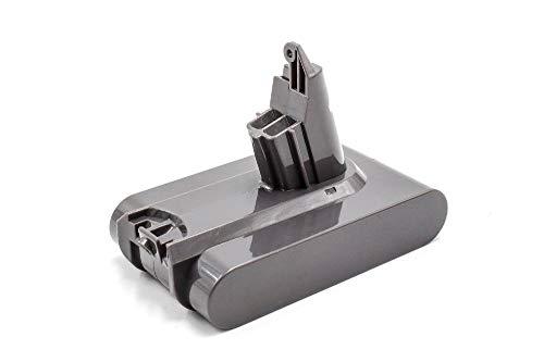 INTENSILO Batería compatible con Dyson V6 Toral Clean, V6 Up Top aspiradora, robot de limpieza (2500mAh, 21,6V, Li-Ion)