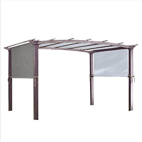 lefeindgdi Pergola - Cubierta para toldo de repuesto con correa de fijación, universal, impermeable, para estructura de sombra de casa al aire libre