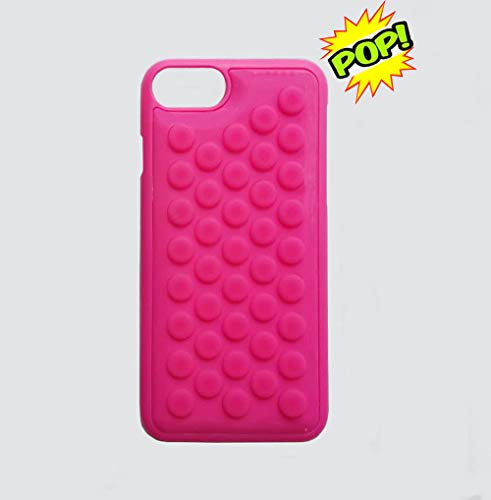 hhyct iPhone 7 case iPhone 8 case Funny Cute Popping Decompression Bubble Wrap Back Soft Silicone Case Cover for iPhone 7/8 4.7 Inch (Pink)