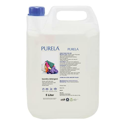 Purela Liquid Detergent 5 Liter, Laundry Liquid for Fabric Care, Suitable for Top-Load and Front Load Machine