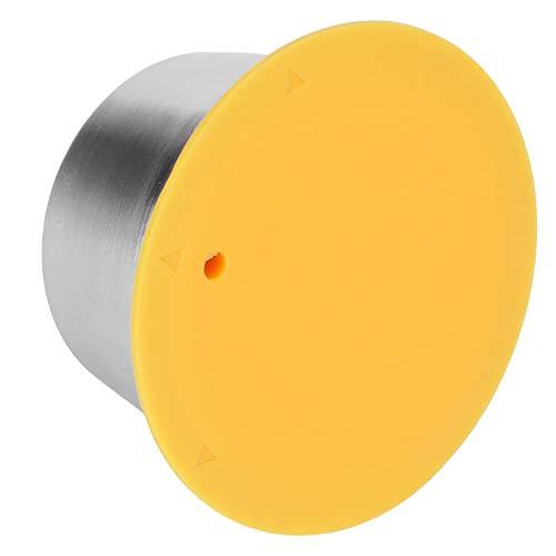 con cubierta de polvo Cápsula de silicona de acero inoxidable Taza Cápsula de café Práctica cápsula para filtro de café Dolce Gusto para amantes del café(yellow)