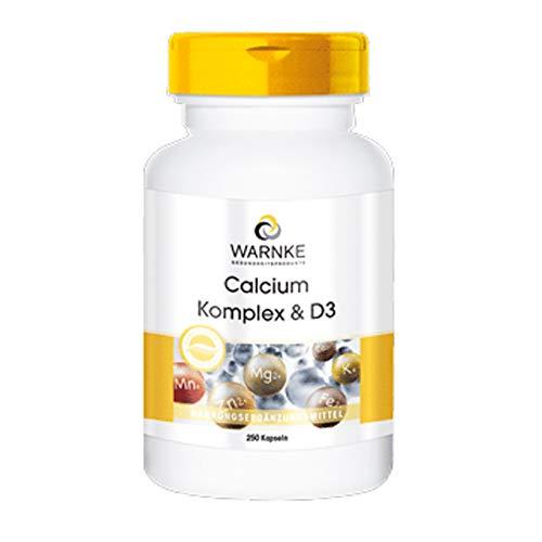 Calcium Komplex mit Vitamin D - Calcium, Magnesium & Vitamin D3 - hochdosiert - 250 Kapseln - Großpackung