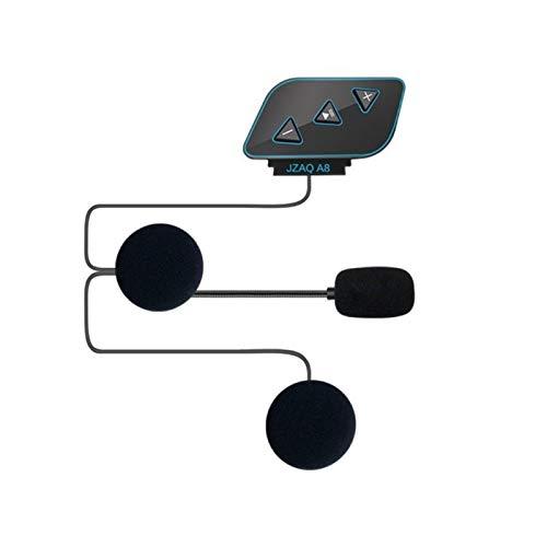 linger Bluetooth 5.0 Moto Casco Auricular Inalámbrico Manos Libres Teléfono Estéreo Estéreo Casco de Motocicleta Altavoz para Auriculares con micrófono para (Color : Black)