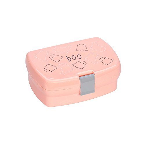 LÄSSIG Kinder Brotdose Lunchbox Snackbox spülmaschinengeeignet/Lunchbox Spooky peach, orange