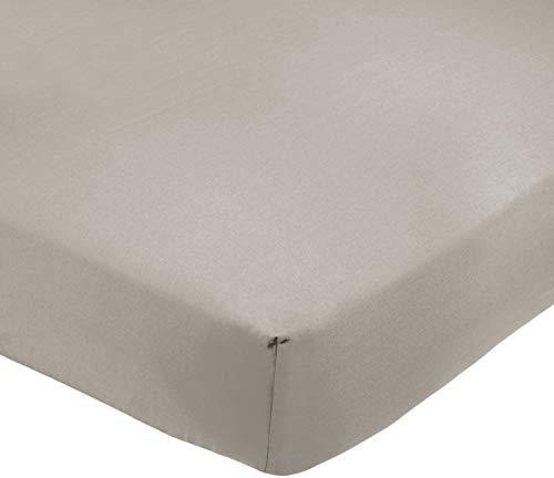 Amazon Basics AB 200TC Poly Cotton, mélangé, Gris, 160 x 200 x 30 cm