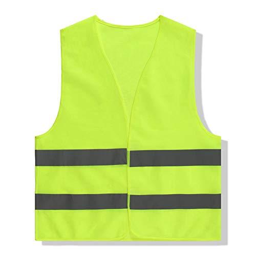 luisbreath Warnweste Fahrrad Warnweste Reflektorweste Sicherheitsweste, Reflektierende Weste Reflektierende Kleidung mit grauen reflektierenden Streifen für Hygiene- und Konstruktionssicherheit