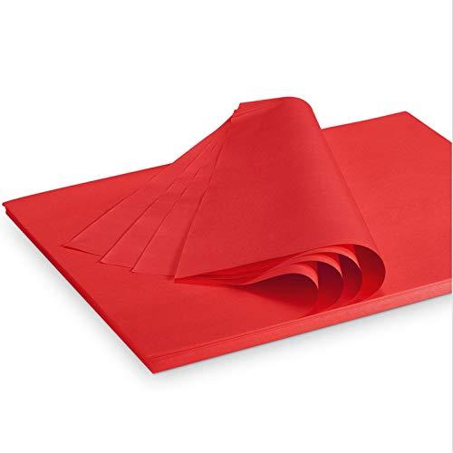 Seidenpapier Packseide farbig Rot 35 g/qm 375 x 500 mm VE 2 Kg