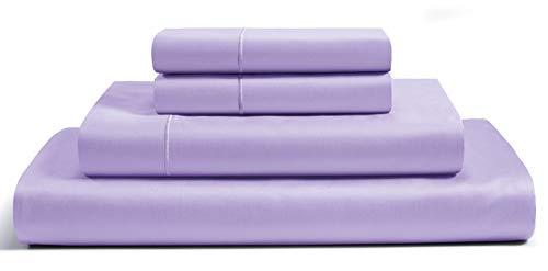Chateau Home Collection - Juego de sábanas de satén de algodón egipcio de 800 hilos, con bolsillo profundo
