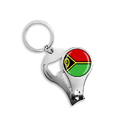 Vanuatu Flaggen-Bierflaschenöffner, Nagelknipser, Metall, Glas, Kristall, Schlüsselanhänger, Reise-Souvenir, Geschenk, Schlüsselanhänger Zubehör