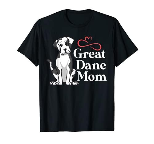 Great Dane Mom Harlequin Dog Mama Puppy Owner Lover Camiseta
