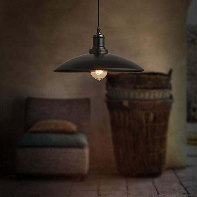 WEI Kronleuchter Nordic Warehouse Kronleuchter Industrial Retro Einfache Licht Loft Eisen Restaurant Single Head Deckel Schwarz Kronleuchter