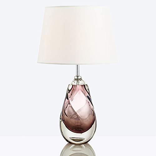 nakw88 Lámpara de Mesa Lámpara Rosa luz Cuerpo Modelo Sala Moderna Creativa Simple Vidrio Mesa lámpara Sala de Estar Dormitorio de Noche lámpara de Mesa Regalo de Boda 36 * 65 (cm)