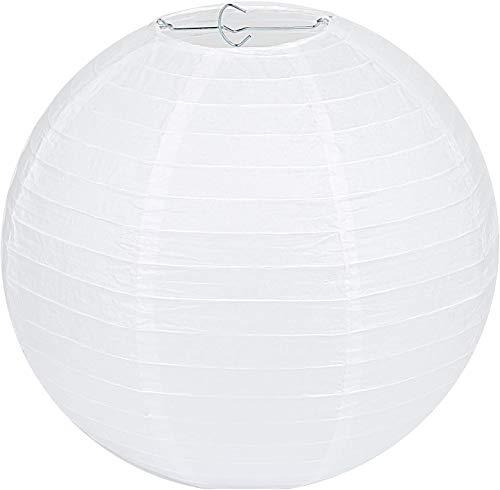 """LIHAO 8""""(20cm) Lampion Papier Lanterne Papier Boule pour Décoration de Mariage, Maison, Noël, Fête (1 pièce, Blanc)"""
