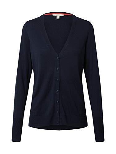 Esprit 990EE1I317 Suéter cárdigan, 400/azul Marino, M para Mujer