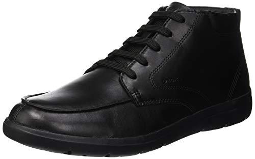 Geox U Leitan A, Mocassini Uomo, Nero (Black C9999), 45 EU