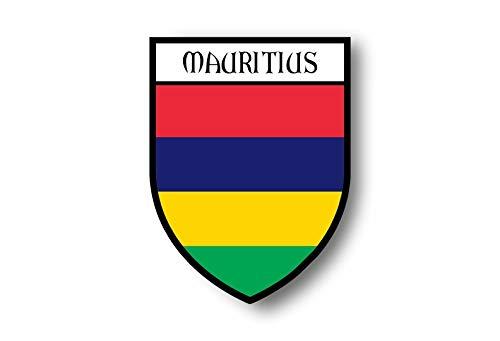 Akachafactory Aufkleber Sticker autoaufkleber Wappen Schild Flagge flaggen Fahne Mauritius