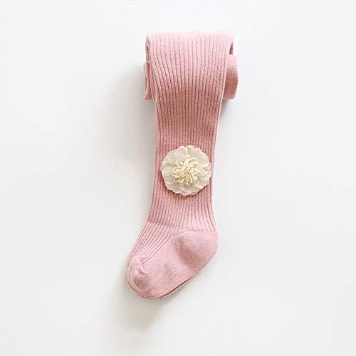 SanQing LOVE Les Filles d'hiver Doux Pantalons Collant Tight Knit Leggings bébé Couleur Solide Chaud Chaussettes Longues Pantalons bébé Convient pour 0-8 Ans Filles âgées,Rose,M