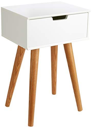 AC Design Furniture Nachttisch Mariela, B: 40 x T:30 x H: 61,5 cm, MDF, Weiss