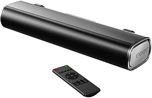 50W Portable Sound Bar, 16-Inch 2.0 Outdoor Soundbar, 3 EQ Modes, 110dB, 3D Surround Sound, Bluetooth 5.0, Optical, Aux, USB
