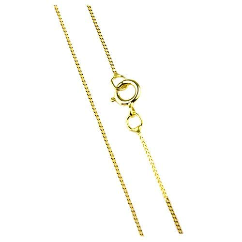 Arranview Jewellery 46cm/18inch Trace Chain Curb Style - 9ct Gol