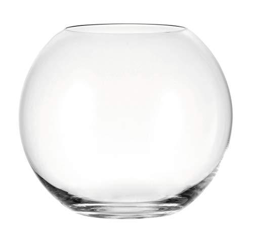 LEONARDO Boccia Kugelvase, Höhe 17,5 cm, Durchmesser 20 cm, Klarglas, 019009