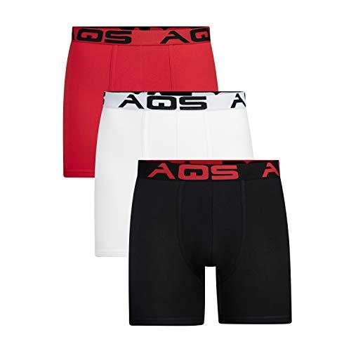 aqs Men's Boxer Briefs - 3 Packs (Large)