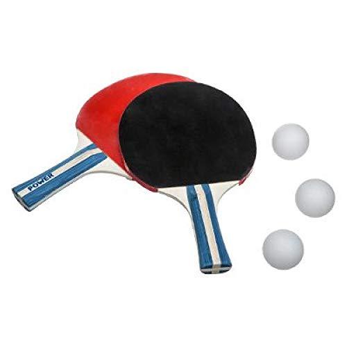Set de Ping Pong, 2 Raquetas Tenis de Mesa + 3 Pelotas + 1 Bolsa Transporte. Pack Palas + Pelotas