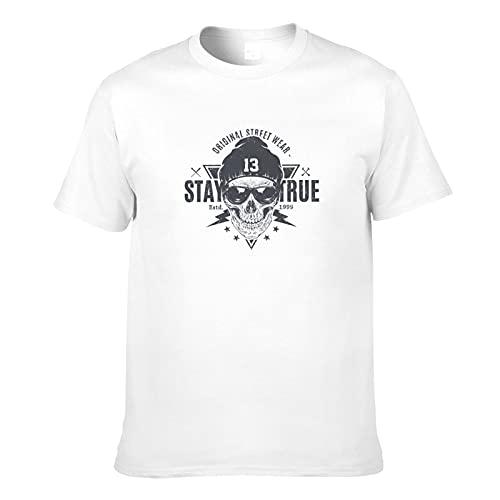 Camiseta de moda de béisbol de cráneo de los hombres de la impresión 3D adulto de manga corta de moda casual camisetas