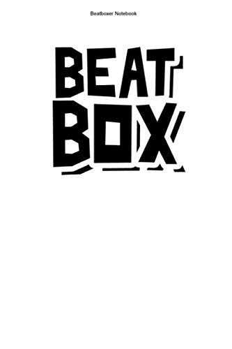 Beatboxer Notebook: 100 Pages | Dot Grid Interior | Microphone Rap Sound Music Beat Box Beatboxers Beats Hobby Team Rapping Gift Mic Rapper