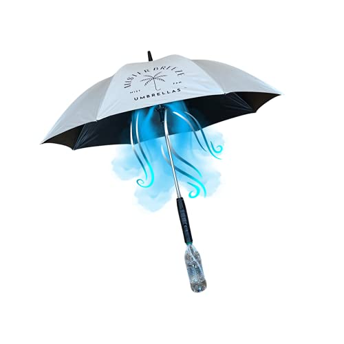 MisterBreeze personal mist and fan umbrella (Stone)