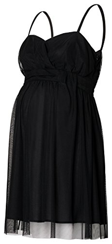 ESPRIT Maternity Damen Umstandskleid Dress WVN ss, Knielang, Einfarbig (42 (Herstellergröße: 42), Black (schwarz))
