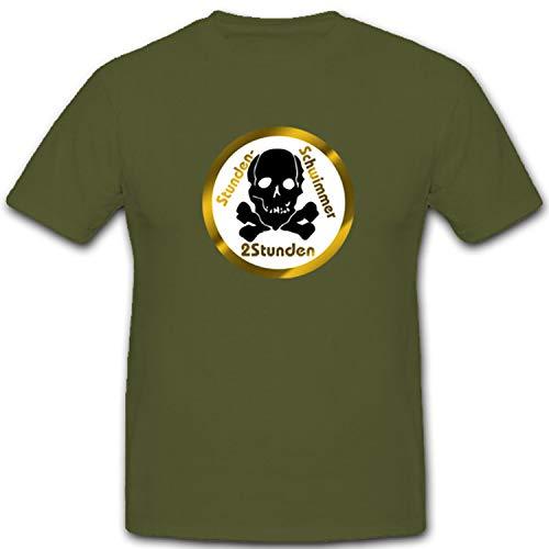 Stundenschwimmer Abzeichen Schwimmen Kampfschwimmer Gold - T Shirt #4294, Größe:XXL, Farbe:Oliv