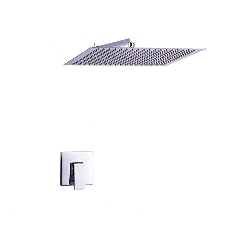 Duradero Cabezal de ducha termostático montado en la pared de acero inoxidable for baño que ahorra agua, 10 pulgadas