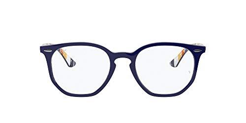 Ray-Ban 0rx7151 Gafas, BLUE ON STRIPES ORANGE/BLUE, 50 Unisex