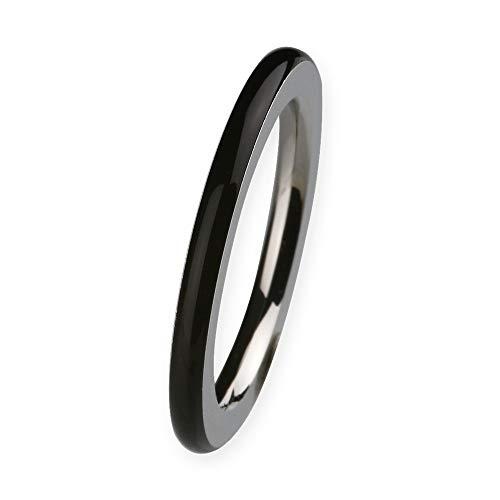 Grave Diseño Anillo r272Acero Inoxidable cerámica negro–Fregadero Alcance 48–65Keramic