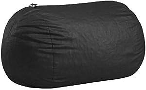 Big Joe Lenox Fuf Foam Filled Bean Bag, Extra Large, Black -