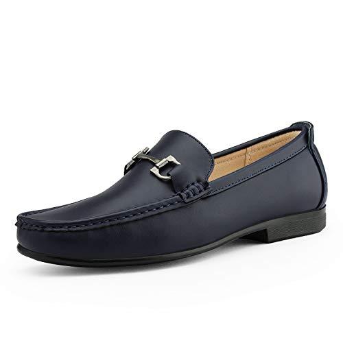 Bruno Marc Men's BENNETH-01 Blue Driving Loafers Moccasins Shoes Size 9 M US