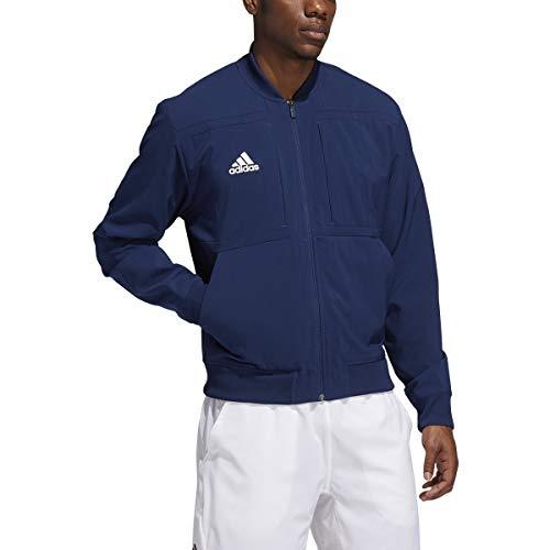 adidas Urban Bomber Jacket - Men's Casual S Team Navy Blue/White