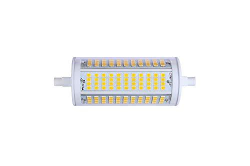 ECOBELLE® 1 x 23W R7s Dimmbar LED Leuchtmittel Lampe *HYPERNOVA ELLIPSE FOCUS* 3000 Lumen (Hohe Lumen Lampe) warm-weiß 3000K 118mm 270° mit Gehäuse aus Keramik für bessere Kühlung (LED Konzentrierte)