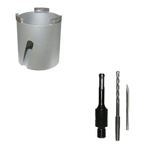 Diamant-dozenverzinker, universeel, Ø 68 mm + SDS Plus-opname incl. boor dozenverzinkboor boorkroon dozenboor stekkerdoosboor - Bodi Tools
