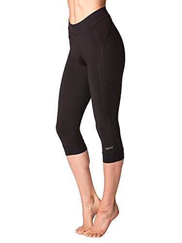 Terry Highly Rated Breakaway Performance Cycling Knickers for Women - Improved with More Padded Fleet Chamois – Black – Small