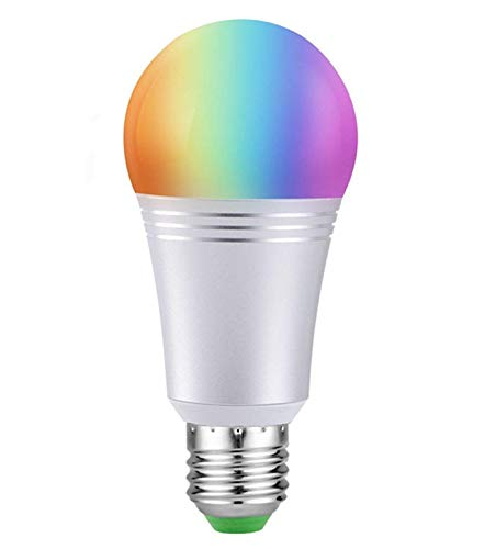 Bombilla Wifi Inteligente con Color Regulable, Foco LED 60W Equivalente 650lm de Dispositivo Inteligente y Control de Voz por Amazon Alexa y Google Home No Requiere Concentrador...