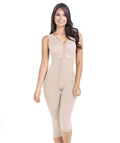 Funda post-operatoria con apoyo gargantilla para mujer Liposuccion post-partum Shapewear Fajas Colombianas Levanta Cola 9262 beige S 🔥