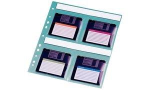markenlose Qualität Disketten-Hülle für 4 x 3,5' Disketten VE=