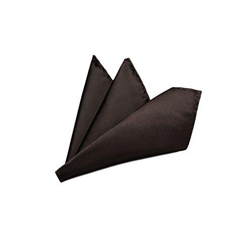 Rusty Bob Rusty Bob - Einstecktuch einfarbig - Tuch aus Polyester - Kavalierstuch Pochette Stecktuch - Taschentuch - Dunkelbraun